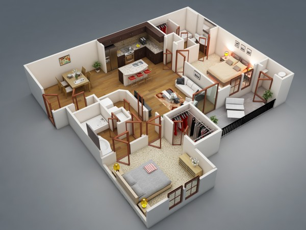 2-bedroom-bath-attached-house-plan-600x450