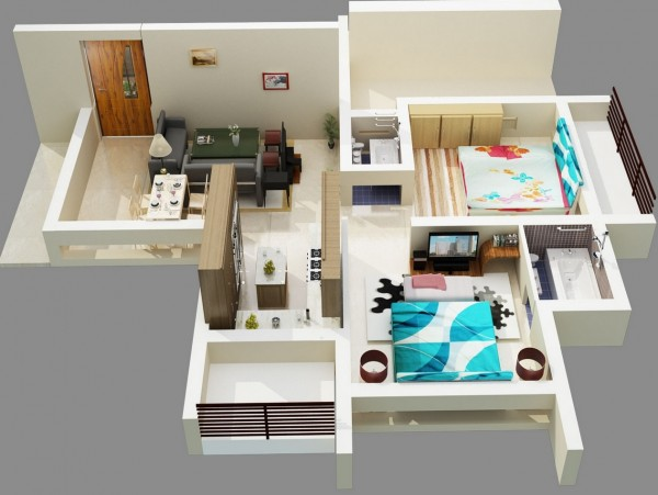 Bold-Two-Bedroom-Apartment-Design-600x451