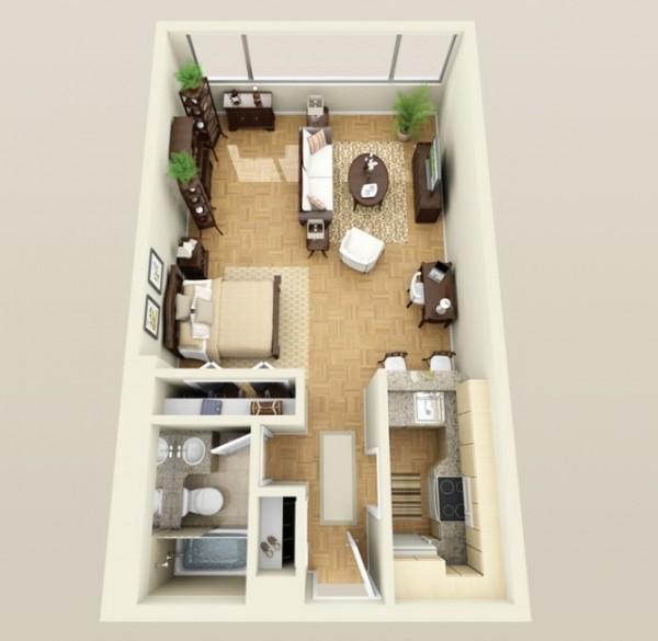 Church-Park-Apartment-Studio-600x585