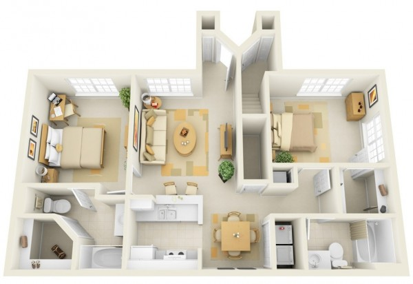 Incore-Residential-Two-Bedroom-Apartment-Plan-600x412