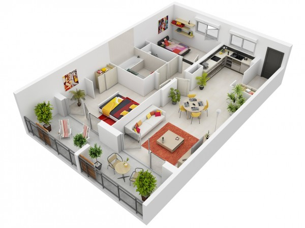 Modern-Two-Bedroom-Apartment-600x449