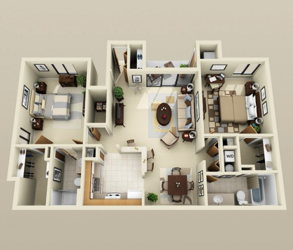 Paragon-Apartment-Two-Bedroom-Plan-600x512