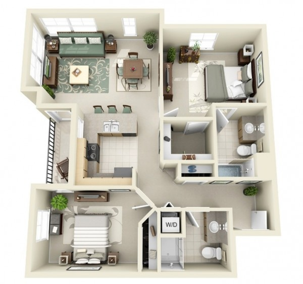 Spacious-Two-Bedroom-600x561
