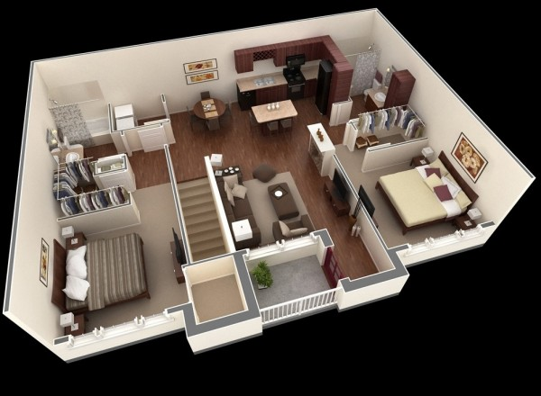 Springs-Apartment-Two-Bedroom-Plan-600x440