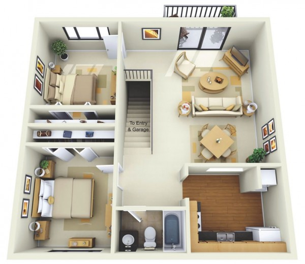 Summit-Chase-Apartment-Two-Bedroom-Floor-Plan-600x519