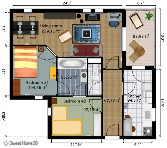 SweetHome3DExample3-Plan
