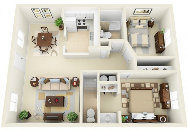 Two-Bedroom-Floor-Plan-600x416