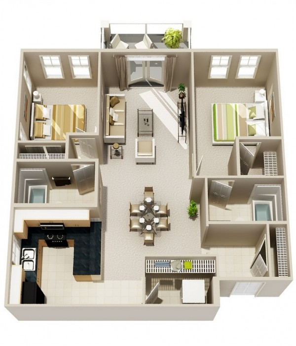 Two-Bedroom-Two-Bath-Floor-Plan-600x703