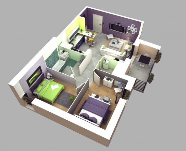 Two-bedroom-house-plan-600x488